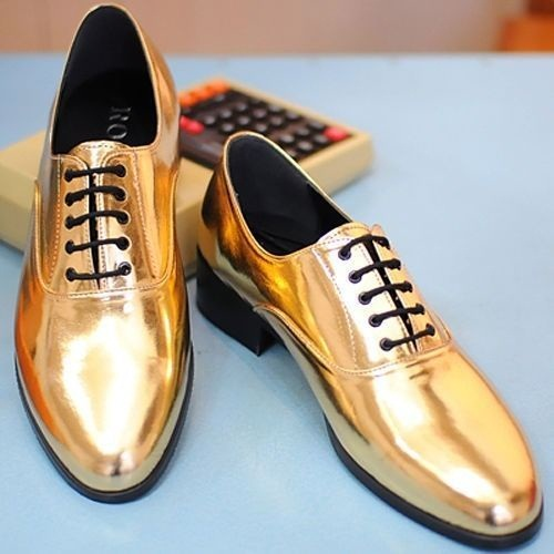 White And Gold Church Shoes