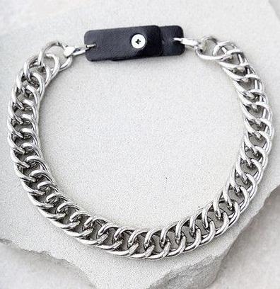 Chain choker in silver