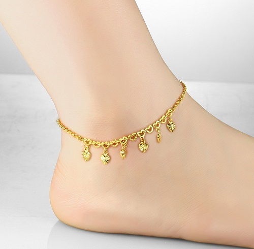 Charms heart anklet