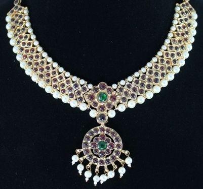 Choker Bharatanatyam Temple Jewellery