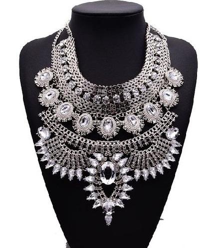 Chunky bib Fashion Necklace