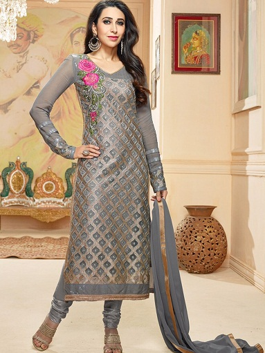 silver salwar suits
