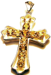 Citrine Cross Pendant