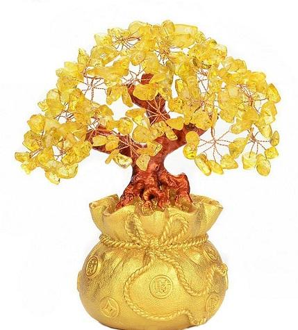 Citrine Gemstone Money Tree