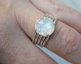 Clear moonstone Ring