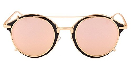 Clip-on Round frame Mens sunglass-20