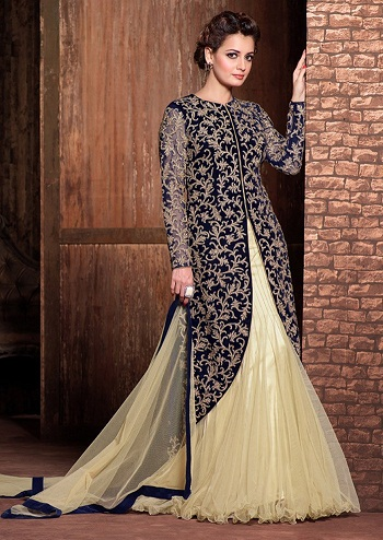 Coat style Salwar Kameez Skirt