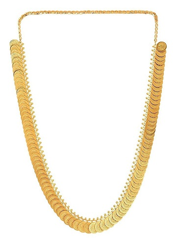 Coin gold plated necklace