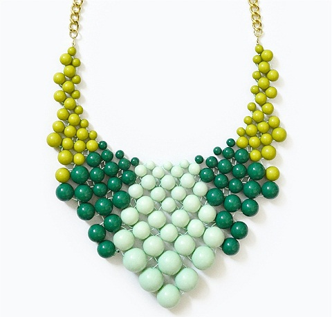 Color block chunky necklace