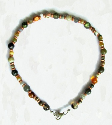 Colourful Handmade Pearl Anklet