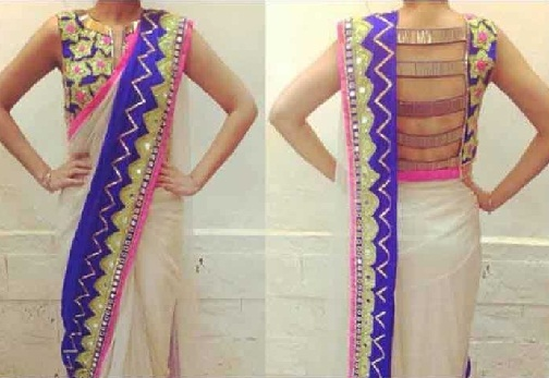 Contemporary back neck designed with straps -36