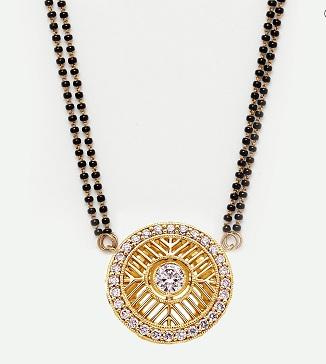 Contemporary gold and diamond Mangalsutra design