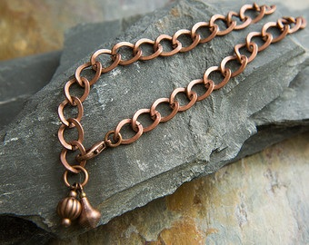 Copper Double Charmed Anklets