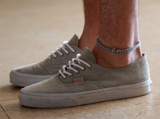 Crochet Anchored Anklet for Men