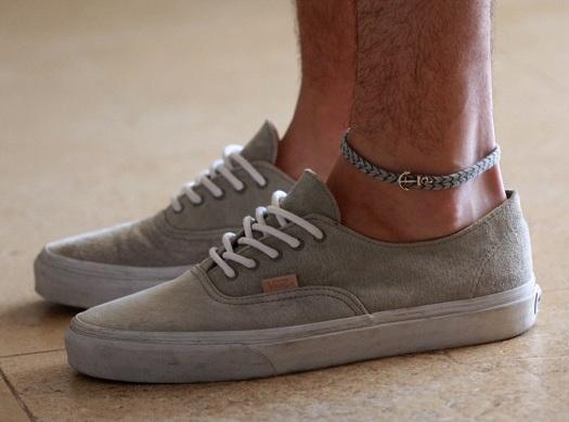 Crochet Anchored Anklet for Men