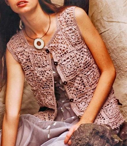 Crochet designer womenVest