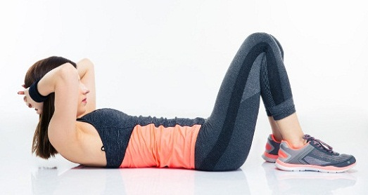 Crunches for reduce waist fat