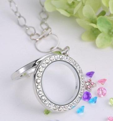 Crystal Locket Necklace