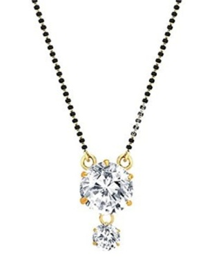 Crystal artificial mangalsutra