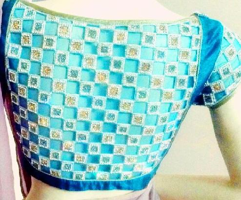 Crystal studded Blouse design -39