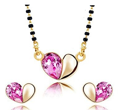Crystal studded locket mangalsutra