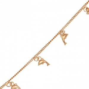 Cute Fish Hooked Gold Plated Anklets for Girls