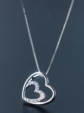 Cute Heart shaped Pendant Necklace