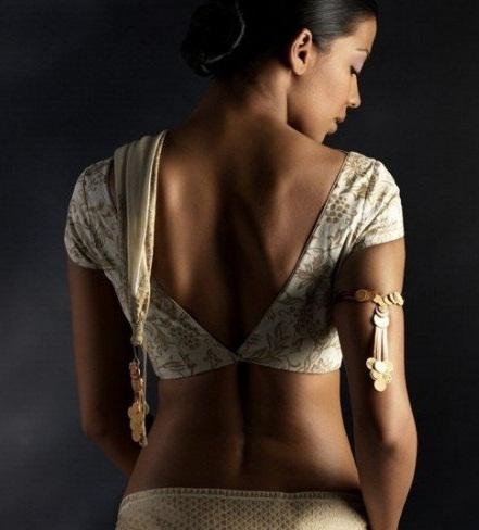 Deep V-NEck blouse design -4