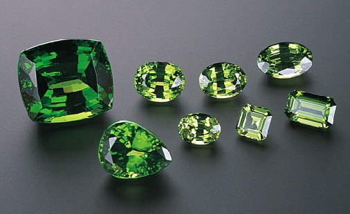 Demantoid Garnet Gemstone