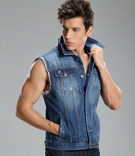 Denim Casual Vest