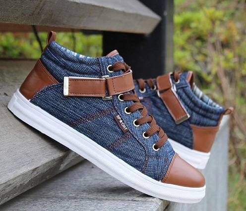 Denim casual shoes for men -21
