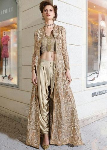 Designer Dhoti Pant Salwar Suit