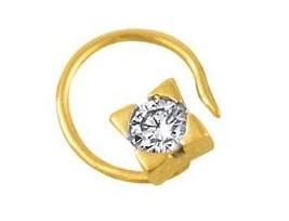 Designer Gold Nose Pin with Diamond