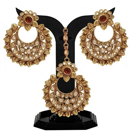 Designer Maang Tikka With Earring Sets