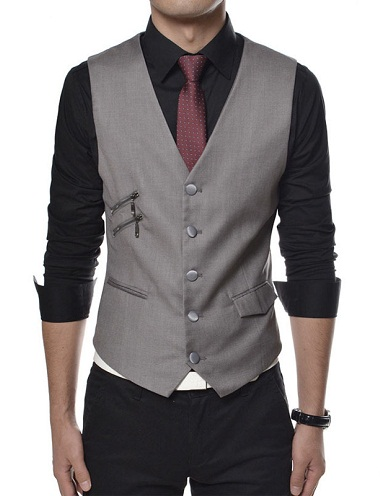 Designer Zip vest for Men