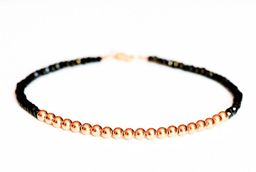 Diamond Anklet for Men with Rose gold