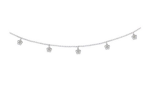 layered anklet triple with diamond anklets