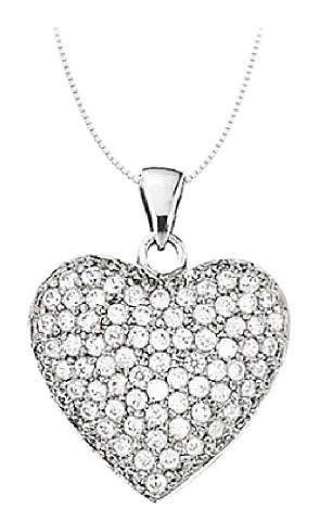 Diamond Birthstone Heart Pendant Necklace