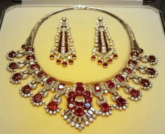Diamond-Ruby chunky collar Necklace