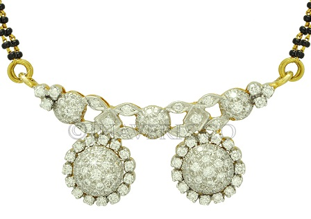 Diamond Studded Vati MAngalsutra