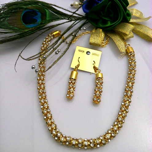 Diamond and gold plated chain