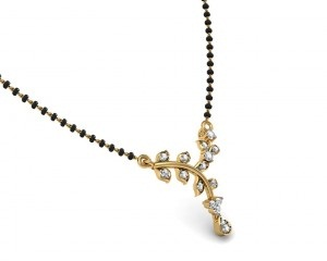 Diamond mangalsutra locket
