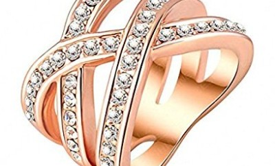 Double Cross Rose Gold Plated Ring