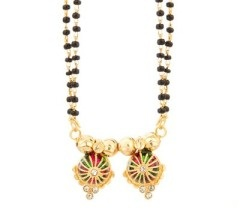Double gold chain Mangalsutra designs