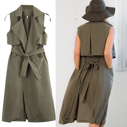 Double layered sleeveless jacket vest