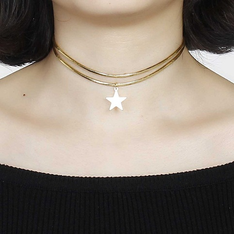 Double strand choker for girls