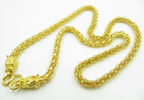 Dragon ends24k Gold Chain