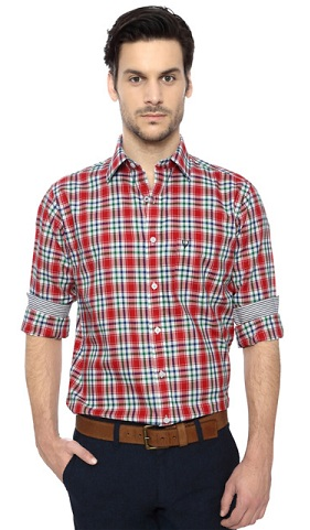 Dual checks design formal shirt