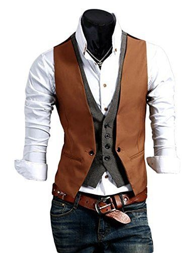 Dual design casual vest