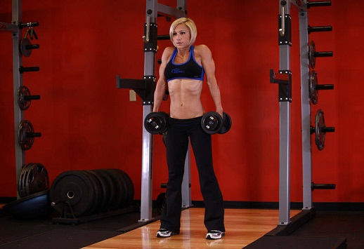 To Lose Back Fat Dumbbell Shrugs